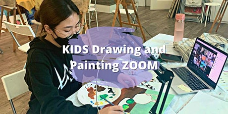"""4 Sessions KIDS Drawing and Painting - """"Our Tropical Rainforest"""" ZOOM tickets"""