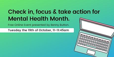 Mental Health Month - Free Wellbeing Webinar. tickets