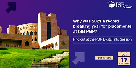 Interact with ISB Alumni and Admissions team|India| 4 PM - 6 PM tickets
