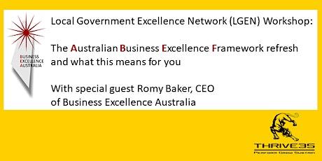 LGEN: The Australian Business Excellence Framework (ABEF) Refresh tickets