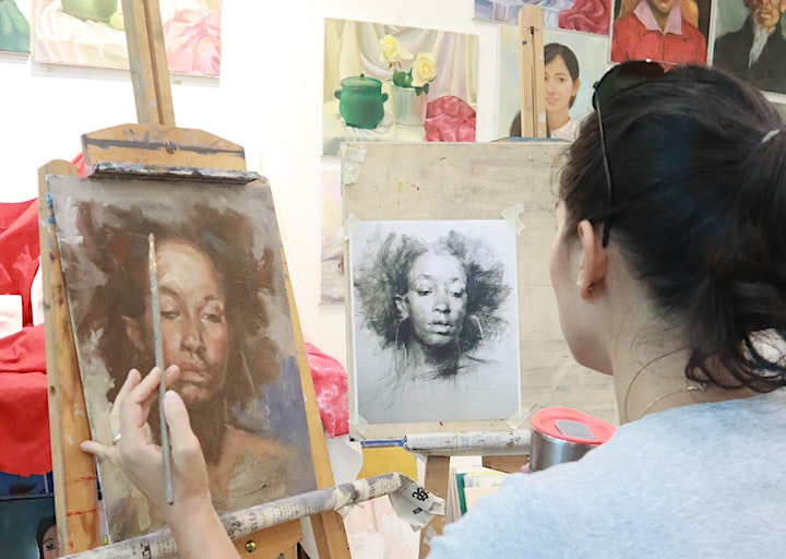 4 Sessions Virtual  Portrait Oil Painting Masterclass ZOOM image