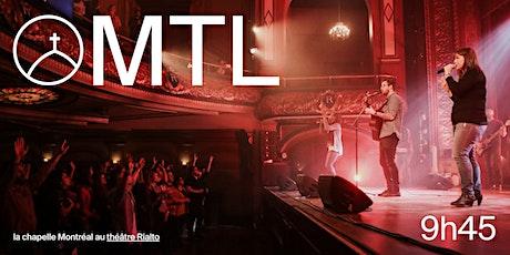 La Chapelle Montréal au Théâtre Rialto - Réunion 09h45  avec Junior billets