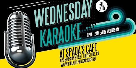 Wednesday Karaoke at Spadas Cafe (Eddystone - Delaware County, PA) tickets