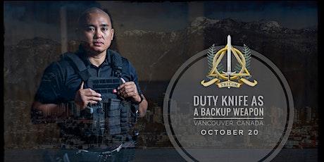 TRICOM: Duty Knife as a Backup Weapon Workshop tickets