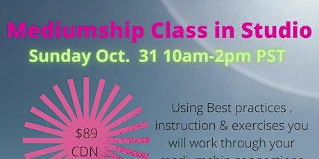 Mediumship Workshop Oct. 31:10am- 2 pm IN PERSON, in Studio. Crescent Beach tickets