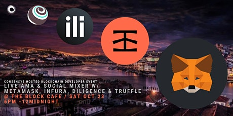 LIVE Community AMA & Mixer! Chat w/ Metamask, Infura, Diligence, & Truffle! tickets