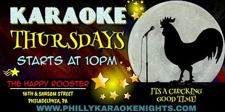 Thursday Karaoke at The Happy Rooster (Center City - Philadelphia, PA) tickets