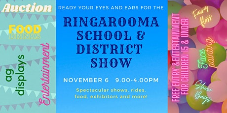 2021 Ringarooma School & District Show tickets