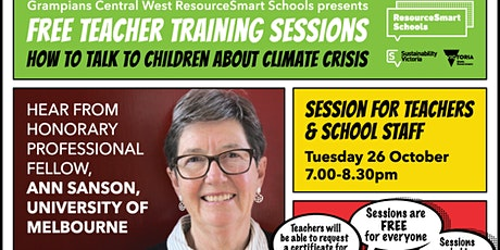 How To Talk To Children About Climate Crisis - Teachers & School Staff tickets