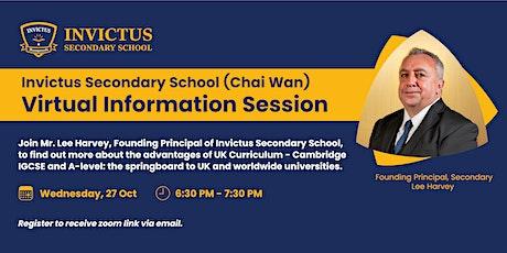 Invictus Secondary School - Virtual Info Session 27 Oct 2021 tickets
