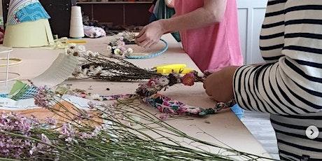 Pimp ton abat-jour : Création d'une couronne de fleurs séchées sur la Deûle billets