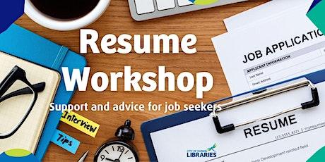 Resume Workshop tickets