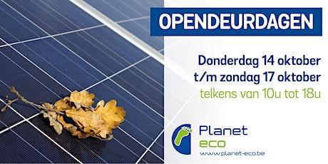 Opendeurdagen Planet-eco tickets