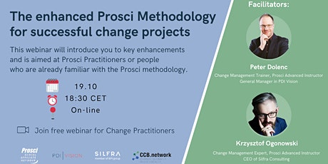 Webinar: The enhanced Prosci Methododology for successful change projects tickets