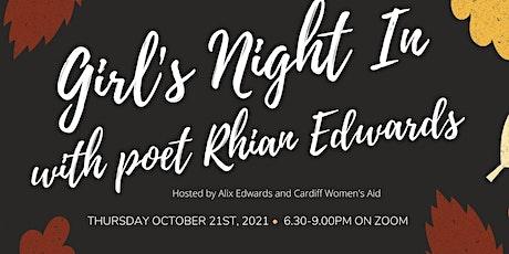 Open Mic: Girl's Night In featuring poet Rhian Edwards (online) tickets