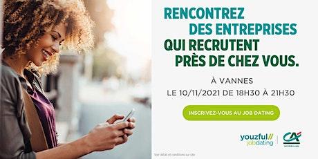 Job Dating à Vannes : décrochez un emploi ! billets