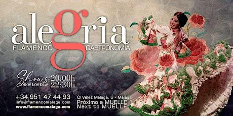 Flamenco en directo | 2 pases diario 20h00 y 22h30 | Tablao Alegria Málaga entradas