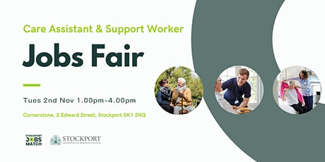 Care Assistant & Support Worker Jobs Fair tickets