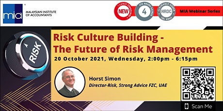 MIA Webinar Series: Risk Culture Building - The Future of Risk Management tickets