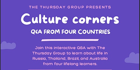 Culture Corners tickets