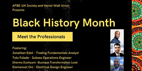 BLACK HISTORY MONTH - MEET THE PROFESSIONALS tickets