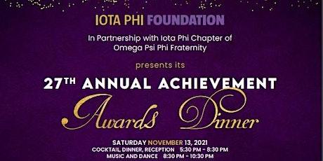 27th Annual Iota Phi Achievement Dinner tickets