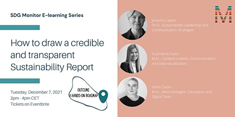 How to draw a credible and transparent Sustainability Report | SDG Monitor tickets