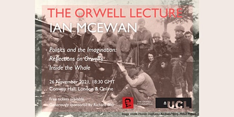 'Politics and the Imagination': The Orwell Lecture with Ian McEwan tickets