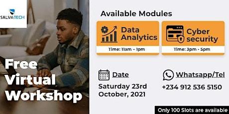 Cybersecurity & Data Analytics - Free Virtual Workshop tickets