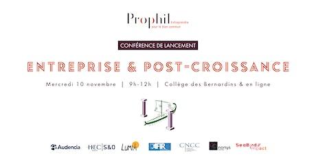 Entreprise & Post-croissance - Lancement de la 3è étude de Prophil billets