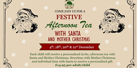 Afternoon Tea With Santa tickets
