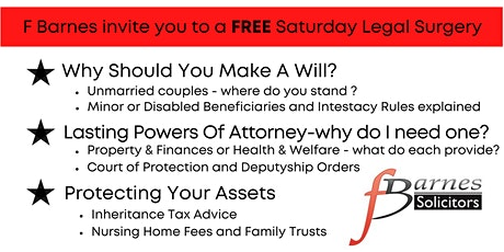 FREE Saturday Morning Legal Surgery tickets