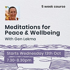Meditations for Peace & Wellbeing tickets