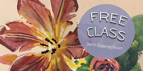 Free Gouache Painting Class: Flowers (livestreaming) tickets