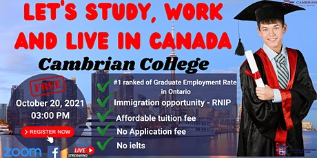 FREE WEBINAR: LET'S STUDY AND WORK IN CANADA tickets