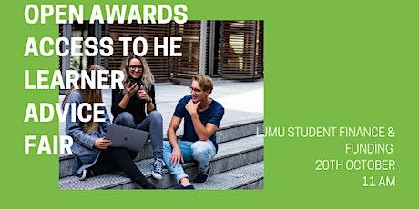 Access to HE Learner Fair - LJMU Finance & Funding tickets