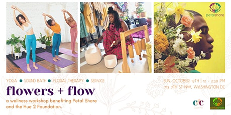 Flowers + Flow: Yoga, Sound Bath, and Floral Arrangement Workshop tickets