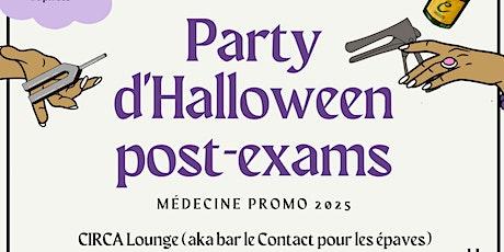 Party d'Halloween Post-Examens - Médecine Promo 2025 billets