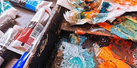 Adult Art workshops - Printing- Painting- Fine arts-Expressive line art tickets