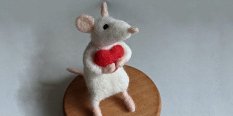 Valentines Mouse: Needle Felting Workshop for Improvers Morning Session tickets