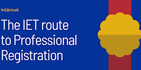 The IET route to Professional Registration tickets