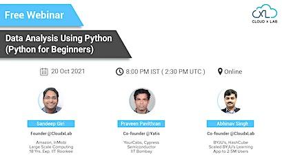 Webinar on Data Analysis using Python - Python for Beginners tickets