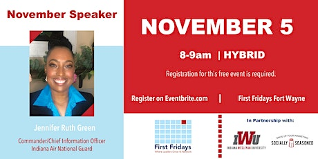 First Fridays with Lt. Col. Jennifer-Ruth Green-Active Military, Leader tickets