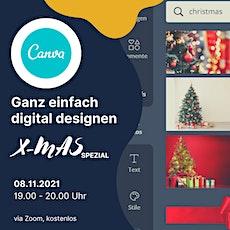 Designe ganz individuelle digitale Weihnachtsgrüße mit CANVA Tickets