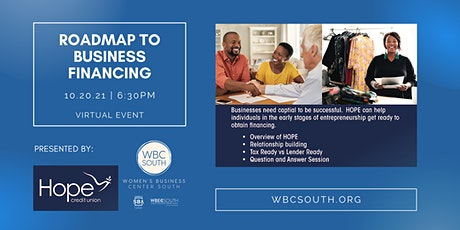 Roadmap to Business Financing  with Hope Credit Union tickets