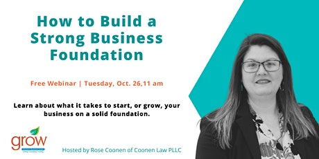 How to Build a Strong Business Foundation tickets