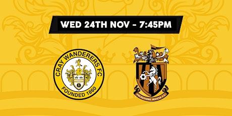 Cray Wanderers VS Folkestone Invicta tickets