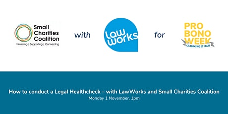 How to conduct a Legal Healthcheck – with LawWorks tickets