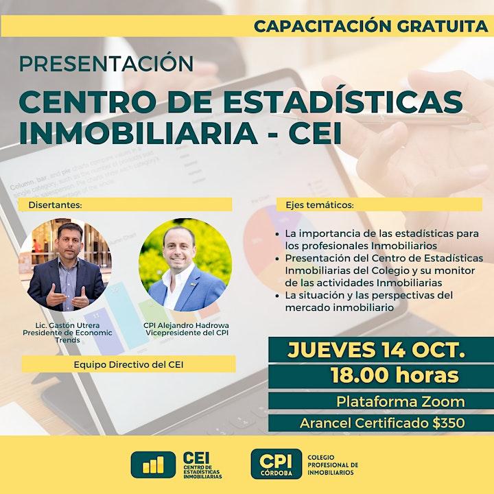 Imagen de Presentación Centro de Estadísticas Inmobiliaria - CEI