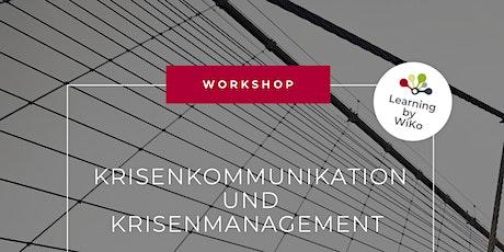 Workshop Krisenkommunikation und Krisenmanagement Tickets